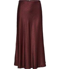 alsop skirt 10447 lång kjol röd samsøe samsøe