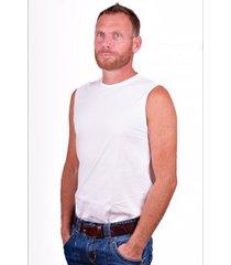alan red mouwloos shirt montana wit (2 pack)