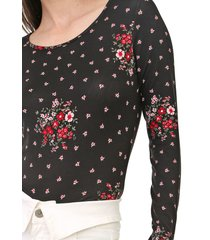 blusa lunender floral preta