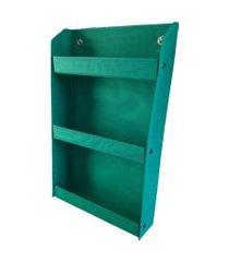 revisteiro prateleira montessoriano organibox - verde bandeira