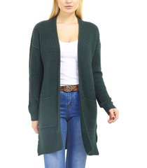 cardigan brave soul verde - calce regular