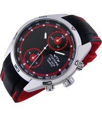 reloj rojo montreal caucho