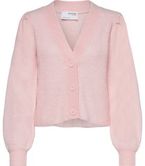 slflipa ls knit short cardigan b stickad tröja cardigan rosa selected femme