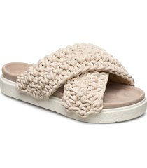 slipper woven shoes summer shoes flat sandals beige inuikii