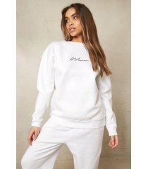 gerecyclede woman sweater, white