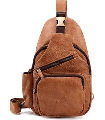 vera pelle cassa multiforme casual borsa retro crossbody borsa per uomo