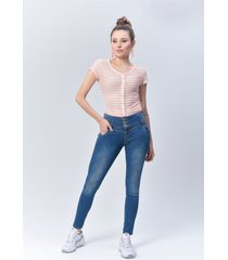 pantalón jeans dama azul di bello jeans ® classic jeans ref j111