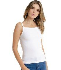 camiseta para mujer en poliamida color blanco talla l