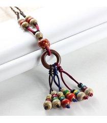 nappe di ceramica etniche nappe goccia collana maglione vintage collana lunga regalo per le donne