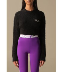 gcds sweater mohair crop top
