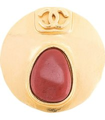 chanel pre-owned 1998 spring cc brooch - gold