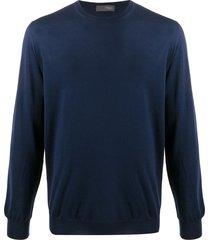 drumohr crew-neck lightweight sweater - blue