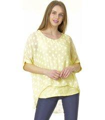 blusa lunares amarillo bous