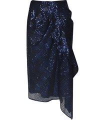 self portrait sequined skirt