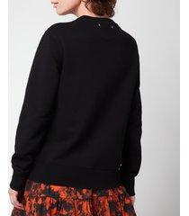 golden goose women's sweatshirt athena regular crewneck - black - s