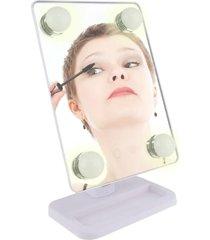 espelho para maquiagem vivitar vanity mirror com iluminaã§ã£o por led e rotaã§ã£o 360â° - branco - branco - feminino - dafiti
