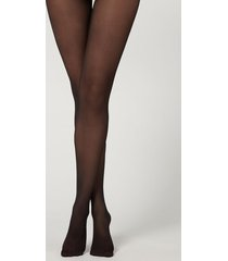 calzedonia 30 denier sheer tights with rhinestone back seam woman black size 1/2