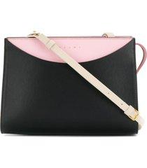marni bolsa tiracolo color block - preto