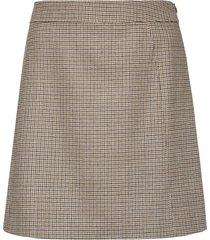 a.p.c. sonia checked wool mini skirt
