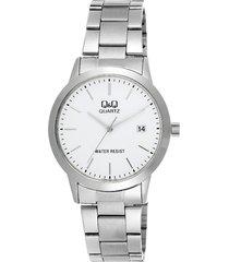 reloj q&q a462j201y para dama en acero con perlas plata