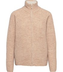kaizen zip knit stickad tröja cardigan guld fall winter spring summer