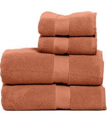 nordstrom 4-piece hydrocotton bath towel & hand towel set in rust leaf at nordstrom