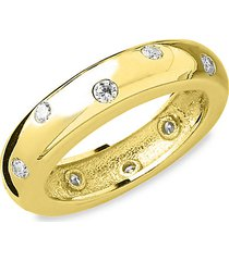 14k gold vermeil sterling silver & crystal etoile ring