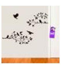 adesivo de parede galhos e pássaros 1 - g 78x58cm
