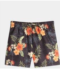 pantaloneta estampada allover tropical hawaiano
