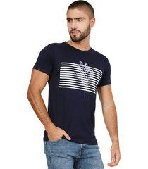 camiseta azul navy manpotsherd intermitente