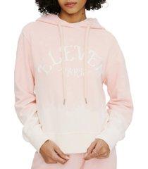 eleven paris cotton ombre hooded logo sweater