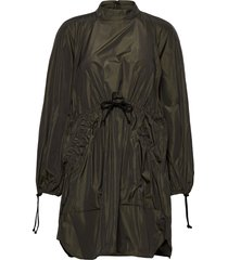 nikita, 924 taffeta korte jurk groen stine goya