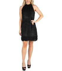 24seven comfort apparel women's halter mini dress