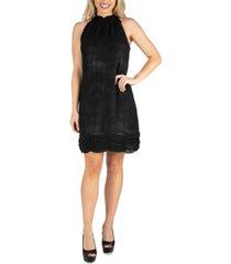 24seven comfort apparel women's halter mini dress