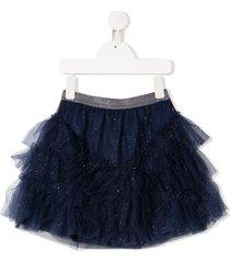 billieblush glitter tulle skirt - blue