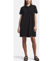 fresca knit pocket shirt dress