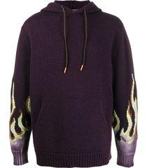 ajmone flame sleeve hoodie - purple