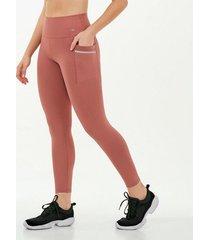calça legging alto giro hyper com laser lateral rosa 2111347 rosa