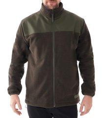 rains fleece zip puller jacket |green| 1812-03