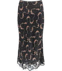 paco rabanne floral skirt with lace