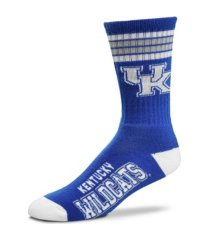 for bare feet kentucky wildcats youth 4 stripe deuce crew socks