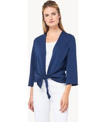 lilla p tie front terry cardigan