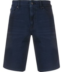 boss mid-rise slim-fit shorts - blue