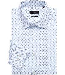 boss hugo boss men's jango slim-fit printed dress shirt - white - size 14.5