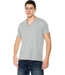 camiseta con botones de hombre-gris polovers