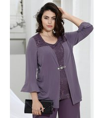 2-in-1-shirt m. collection lila