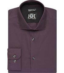 joe joseph abboud brrr° wine slim fit dress shirt