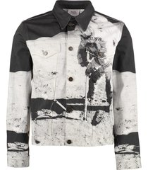 calvin klein jeans denim jacket with print