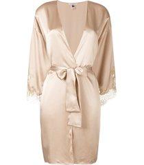 gilda & pearl gina short kimono - neutrals