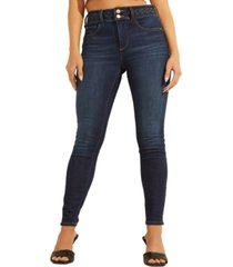 guess braided-waist skinny jeans